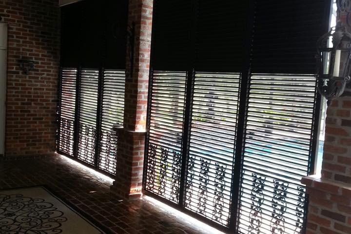 Louver Screen Wall : Adjustable louver shutter wall nu code shutters