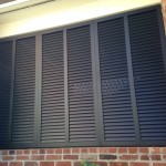 Wall of shutters made of Oval Blade Shutters