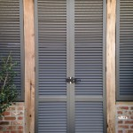 French Doors made of Rated Louvered Shutters
